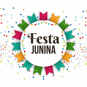 Красочный festa junina фон