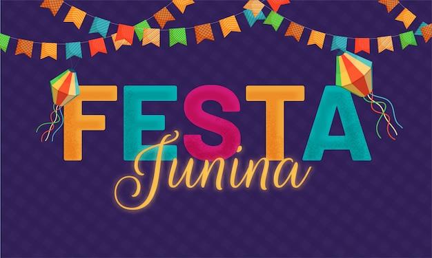 Празднование фестиваля festa junina