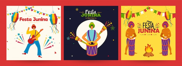 Плакат для вечеринки festa junina