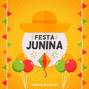 Фон с элементами празднования festa junina