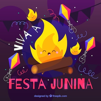 Фон красивый костер festa junina