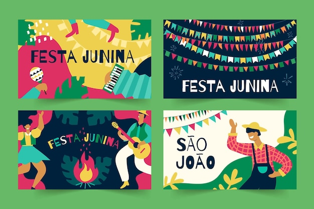 Шаблон коллекции карт festa junina