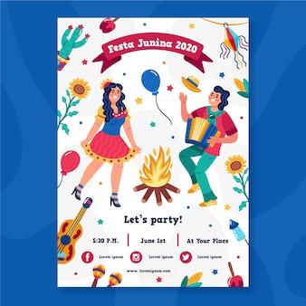 Концепция плаката festa junina