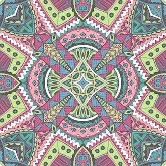 축제 보헤미안 원활한 패턴 민족 기하학적 인쇄
