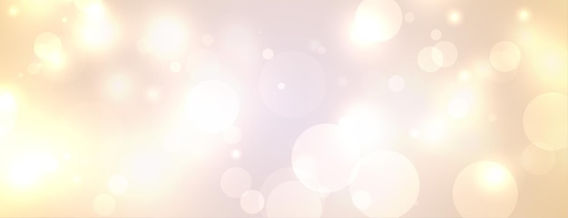 Festival bokeh lights white banner design