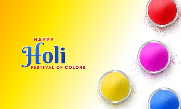 Festival of colors holi celebration poster or banner design, top