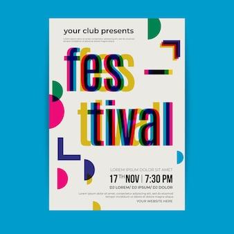 Festival design poster template
