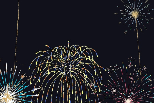 Festival fireworks background vector for celebrations and parties