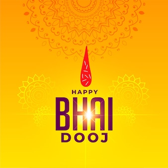 Festival greeting for happy bhai dooj celebration