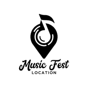 Festival music location logo
