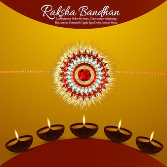 Фестиваль брата и сестры счастливого фона ракшабандхана