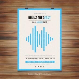 파란색 줄무늬가있는 축제 포스터