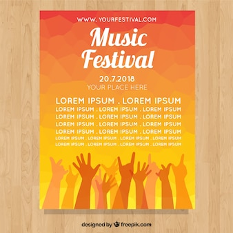 Festival poster with hands