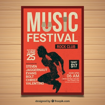 Festival poster with person playing