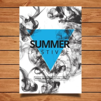 Festival poster with smoke