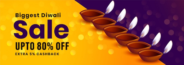 Festival sale banner of happy diwali occasion