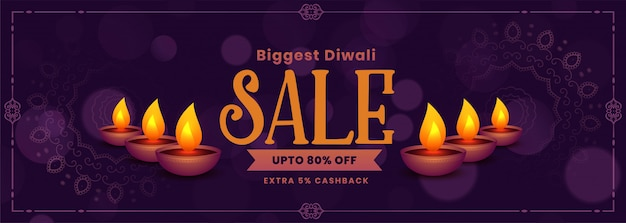 Festival sale banner of happy diwali