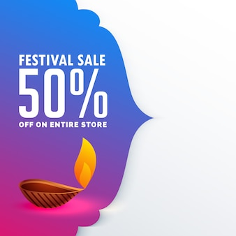 Festival sale of diwali season vector background