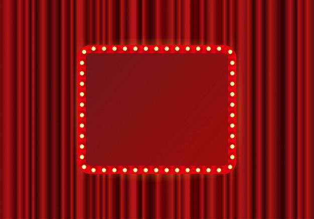 Рамка прямоугольника фестиваля, шоу или театральной сцены
