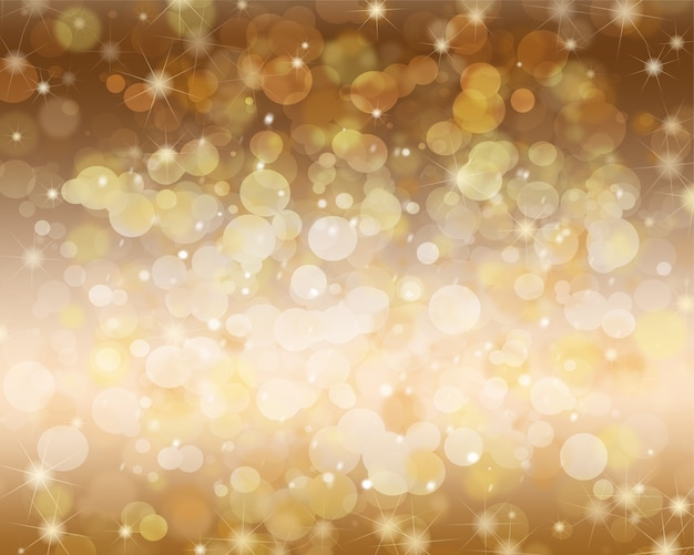 Festive abstract background with bokeh, snowflake and sparkle.