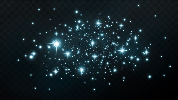 Festive abstract design .   the sparkling of isolated small lights in the night sky or space.