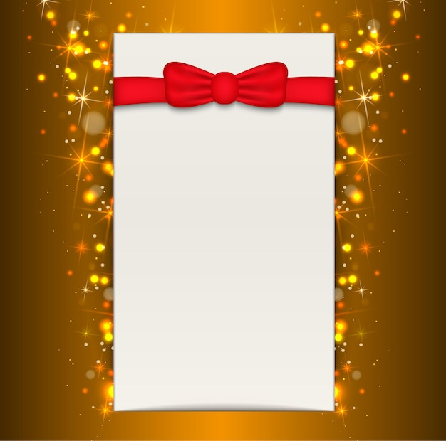Festive background with blank sheet of paper