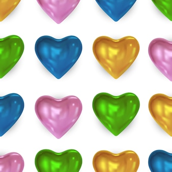 Festive background with glossy bright colored heart