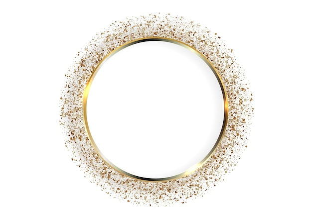 Festive background with golden circle frame and space for text
