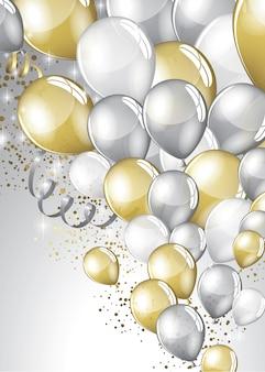 Festive balloons background