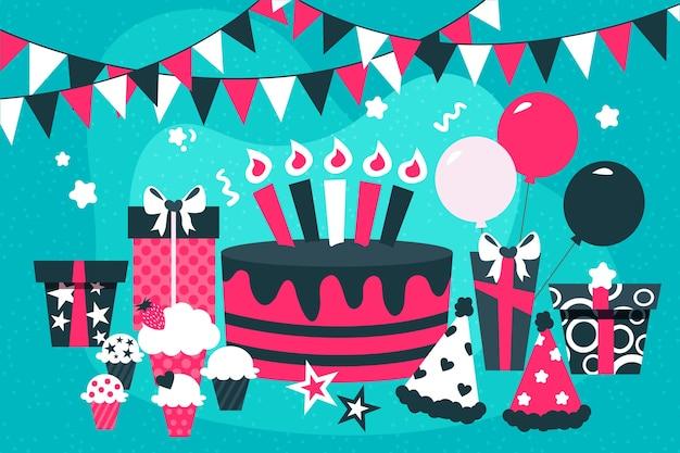 Festive birthday background theme