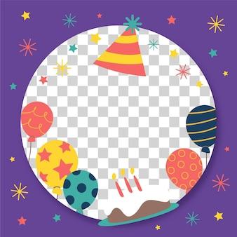 Cornice di facebook compleanno festivo