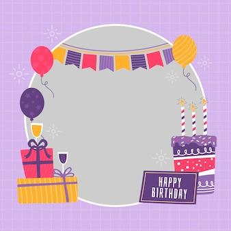 Festive birthday facebook frame