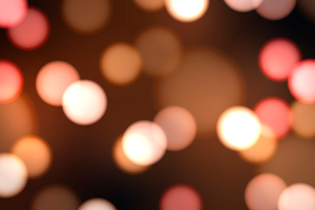 Festive blurred lights