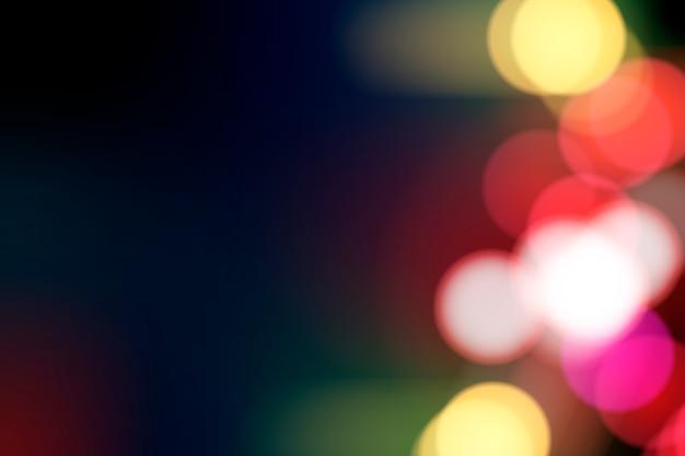 Festive blurred lights