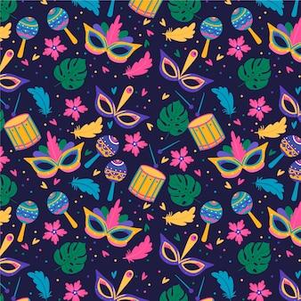 Festive brazilian carnival pattern