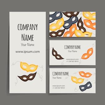 Festive business card.