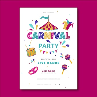 Festive carnival party poster