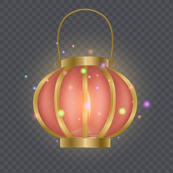 Festive chinese red lantern template, lamp isolated