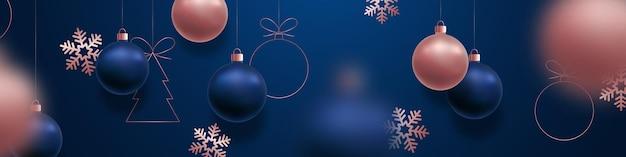 Праздничный рождественский баннер рекламный горизонтальный баннер