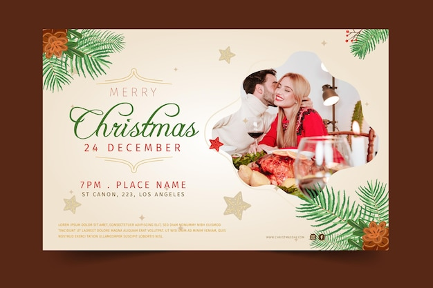Festive christmas banner template