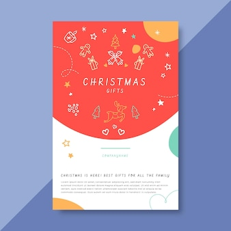 Festive christmas blog post template with illustrations