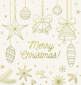 Праздничная рождественская открытка