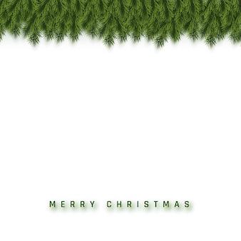お祝いのクリスマスや新年の背景。クリスマスのモミの木の枝。休日の背景。