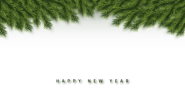 Праздничный фон рождество или новый год. ветви рождественской елки. фон праздника.