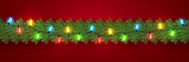 お祝いのクリスマスまたは新年の花輪
