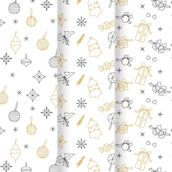 Festive christmas pattern collection