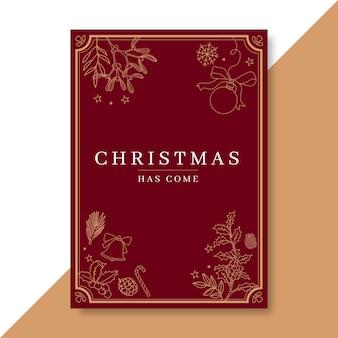 Festive christmas poster template