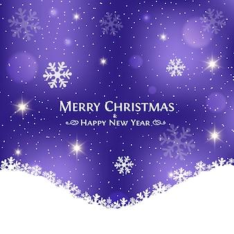 Festive christmas purple background