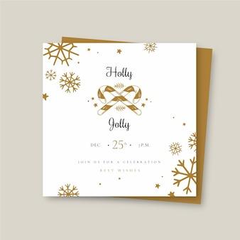 Festive christmas square flyer template