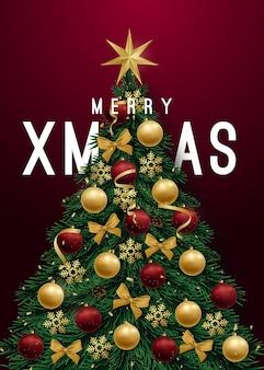 Праздничный баннер рождественской елки
